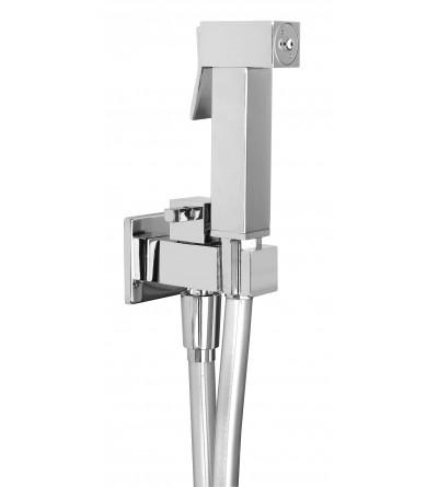 Kit de ducha higiénico para la limpieza del inodoro modelo cuadrado Piralla rubinetterie KITIDROS