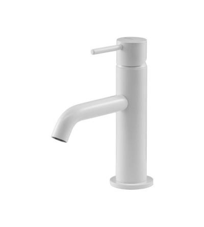 Matt white washbasin mixer Gattoni Easy 2382/23BO