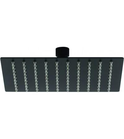 Cabezal de ducha modelo cuadrado negro mate Piralla Rubinetterie LSNR