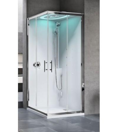 Hamman version corner shower enclosure Novellini Eon A