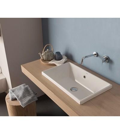 Built-in ceramic washbasin 55.34 Globo Stockholm FO056BI