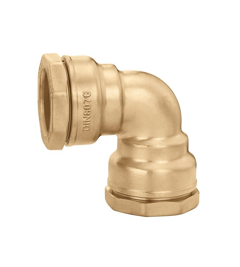 Elbow fitting in brass...