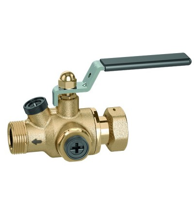 Anti-pollution check valve with built-in shut-off valve. EA type Caleffi 324