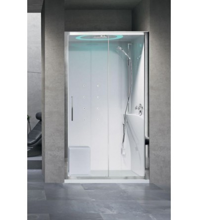 Shower enclosure in niche 120 x 80 standard version Novellini Eon 2P