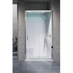 Shower enclosure in niche...