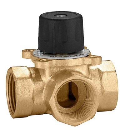 Three-way sector mixing valve threaded connections Caleffi 610