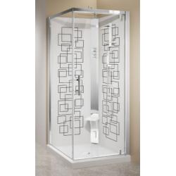 Square corner shower...