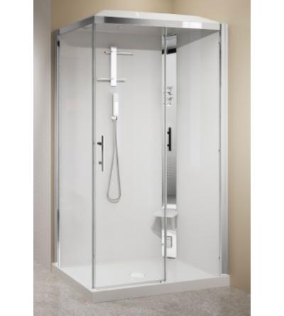 Cabina doccia ad angolo 90 x 90 Novellini Crystal 2P