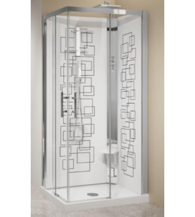Cabina doccia multifunzione ad angolo Novellini Crystal A