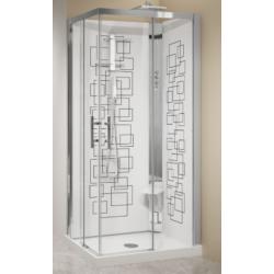 Cabina de ducha asimétrica,...