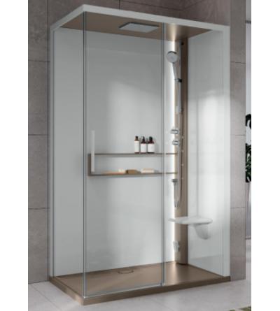 Cabina doccia asimmetrica versione Hydro Novellini Glax 2P