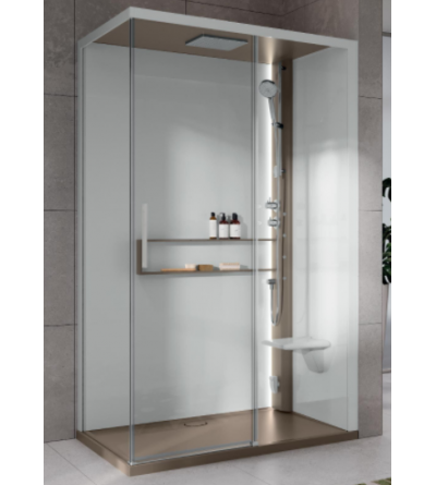 Asymmetrical shower enclosure Hammam version Novellini Glax 2 2.0 2P