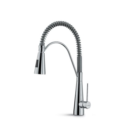 Single-lever sink mixer with swivel and adjustable spring Newform YCON 64203