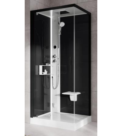 Square multifunction shower enclosure Hammam version Novellini Glax 2 2.0 G + F