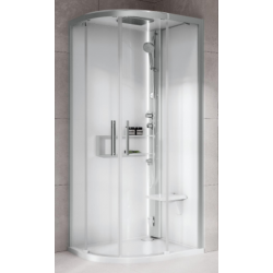 Semi-circular shower...
