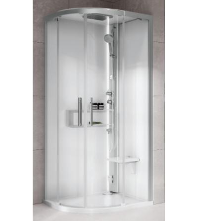 Semi-circular shower enclosure Hydro Plus version Novellini Glax 2 2.0 R
