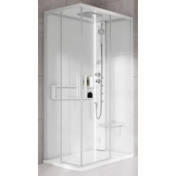 Mampara de ducha asimétrica...