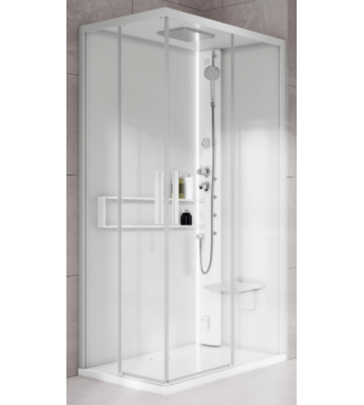 Multifunction square shower enclosure Hammam version Novellini Glax 2 2.0 A