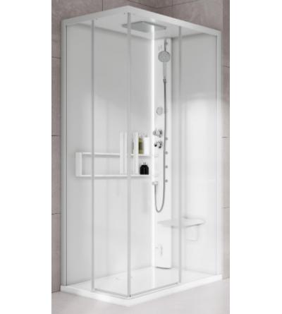 Asymmetrical multifunction shower enclosure Hammam version Novellini Glax 2 2.0 A