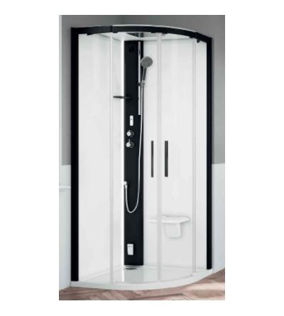 Cabina doccia semicircolare versione Standard Novellini Glax 1 2.0 R