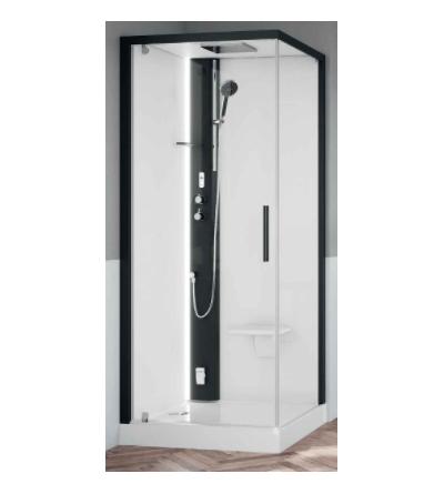 Square multifunction shower enclosure Novellini Glax 1 2.0 G + F