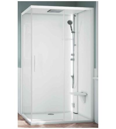 Asymmetric multifunction shower enclosure Novellini Glax 1 2.0 2P