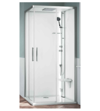 Square multifunction shower enclosure Novellini Glax 1 2.0 A