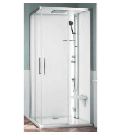 Asymmetric multifunction shower enclosure Novellini Glax 1 2.0 A