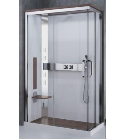 Cabina doccia multifunzione asimmetrica apertura 2 ante scorrevoli Novellini Nexis A100