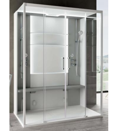Cabina doccia multifunzione doppia postazione versione centro parete Novellini Skill Dual