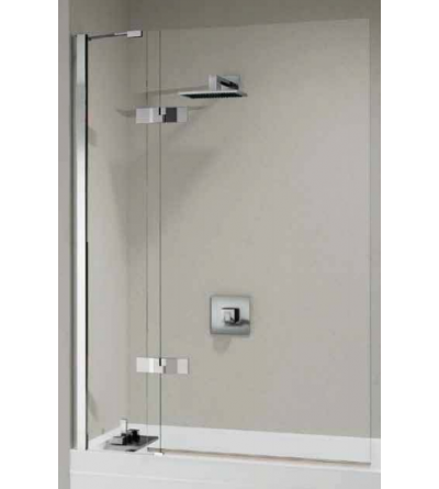 Bath screen 1 fixed and 1 swivel door 90 ° external opening only Novellini Gala 3V