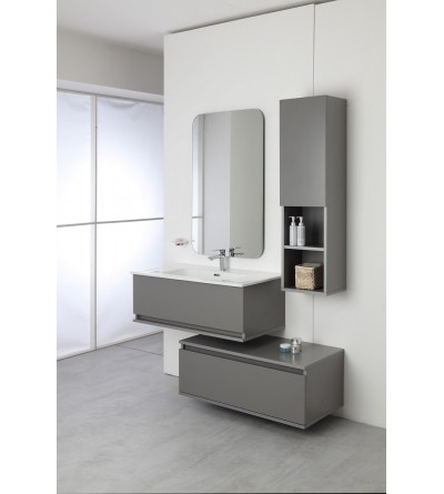 Separate suspended bathroom composition 90 cm gray Feridras Pastello 803003
