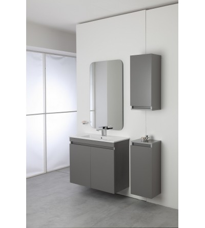 Complete bathroom cabinet 80 cm gray color Feridras Pastello 803005