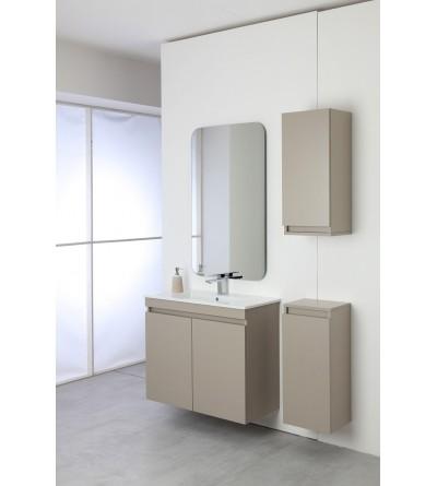 Complete bathroom cabinet 80 cm in dove gray color Feridras Pastello 803006