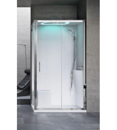 Multifunctional shower cabin, hammam version Novellini Eon 2P