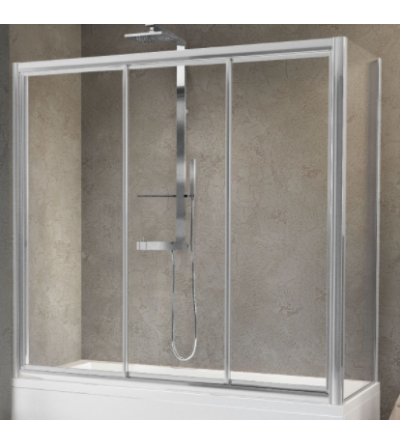 Bath screen with 3 bilateral sliding doors Novellini Aurora 3PV4