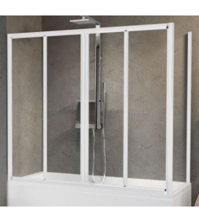 Bath screen 2 sliding doors and 2 fixed in line Novellini Aurora 2AV4