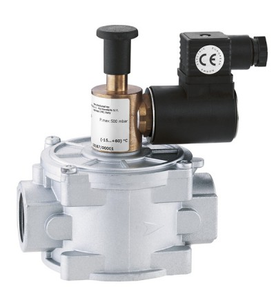 Solenoid valve for gas normally open with manual reset Caleffi 839