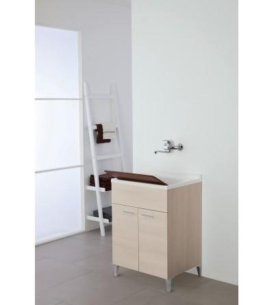 Mobile lavatoio a due ante colore rovere chiaro L 60 cm Feridras Stella 799068