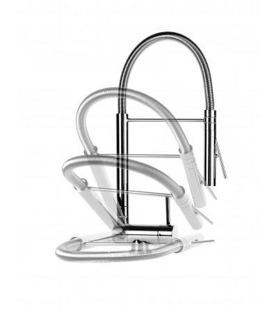 Miscelatore cucina canna abbattibile e doccia professional Nice 290034MCR