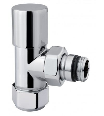 Square valve for radiator in polished chrome Arteclima 101CHT