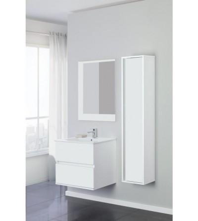 White suspended bathroom composition 60 cm Feridras Fabula 8010022