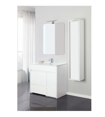 Complete bathroom composition 90 cm in white color bianco Feridras Family 801002