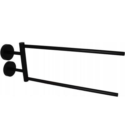 Articulated towel holder in matt black Capannoli Hoop HP111 MM