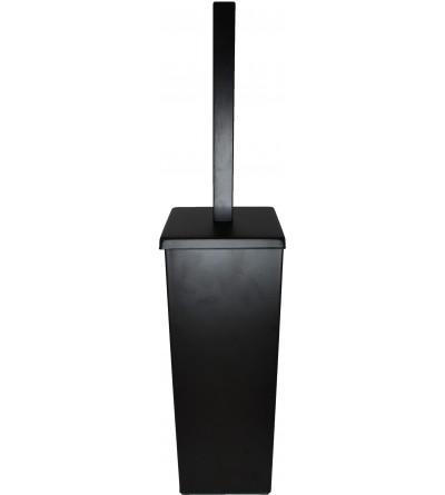 Floor-standing toilet brush holder in matt black Capannoli Nook NK114