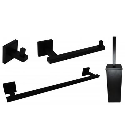 Composizione accessori bagno colore nero opaco Capannoli Nook NKKIT