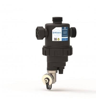 Technopolymer dirt separator filter for vertical installation Pettinaroli 102V