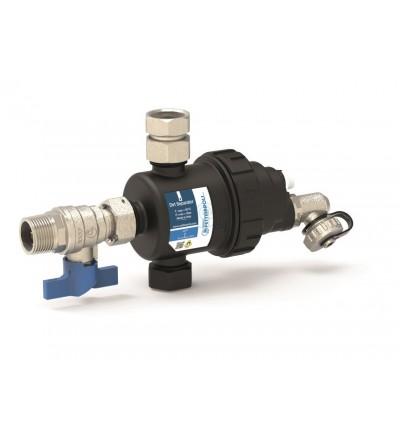 Dirt separator horizontal installation with valve installation Pettinaroli K102H/1