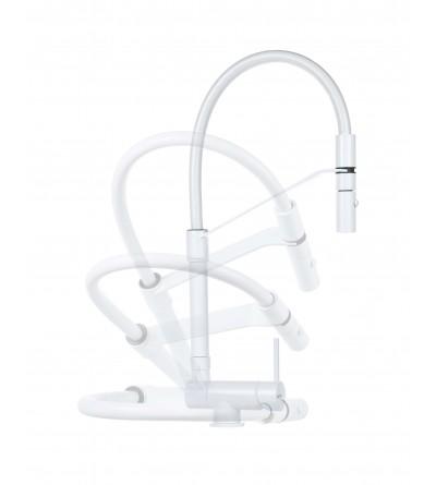 Miscelatore lavello cucina sottofinestra bianco opaco Gattoni Rubinetterie 6015065BO