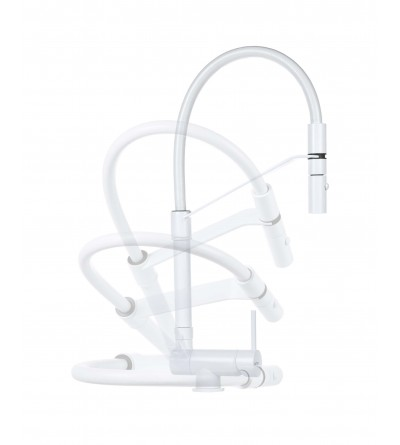 Underfinestra Küchenspülenmischer, matt weiß Farbe Gattoni Rubinetterie 6015065BO